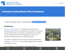 Tablet Preview of clarksburgplanning.org